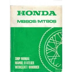 HONDA MB 80 S / MT 80 S (Manuel de base juin 1980)