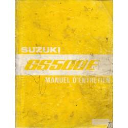 Manuel atelier SUZUKI GS 500 E modèle 1989