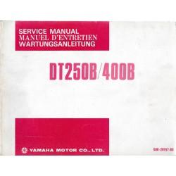 YAMAHA DT 250 B / DT 400 B (manuel atelier 07 / 1974)