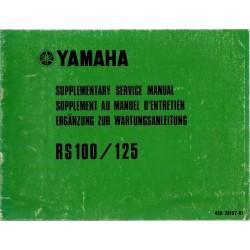 YAMAHA RS 125 (Type 480) Modèle 1975