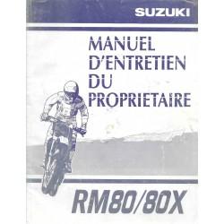 SUZUKI RM 80 / 80 X modèle 2000 (09 / 1999)