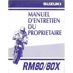 SUZUKI RM 80 / 80 X modèle 2001 (06 / 2000)