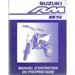 SUZUKI RM 85 modèle 2002 (08 / 2001)