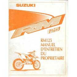 Manuel atelier SUZUKI RM 125 2000 (06 / 1999)