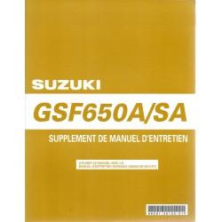 Manuel atelier SUZUKI GSF 650 A K5 / SA K5 (modèle 2005)