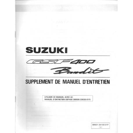 Manuel atelier additif SUZUKI GSF 400 Bandit 1993