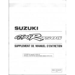 Manuel atelier additif SUZUKI GSX-R 750 WP (09 / 92)