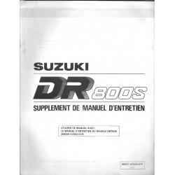 Manuel atelier SUZUKI DR 800 SP (additif 09 / 92)