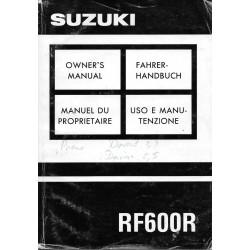 Manuel utilisateur SUZUKI RF 600 R de 1993 (12 / 1992)