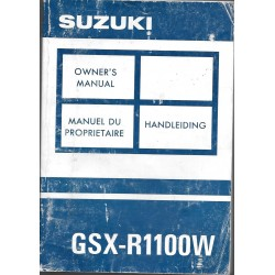 SUZUKI GSX-R 1100 WJ modèle 1993 (10 / 1992)