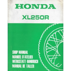 HONDA XL 250R (Additif novembre 1986)