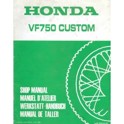 HONDA VF 750 CUSTOM (Additif mars 1984)