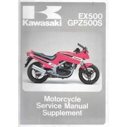 Manuel atelier KAWASAKI EX 400 - GPZ 500 S (1987)