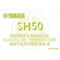 YAMAHA SH 50 (Manuel propriétaire décembre 1986)