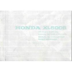 HONDA XL 500 S de 1981 (manuel utilisateur 12 / 1980)