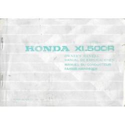 HONDA XL 500 R de 1982 (manuel utilisateur 01 / 1982)