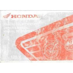 HONDA XL 125 V de 2001 (Manuel utilisateur 12 / 2000)