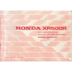 HONDA XR 500 R de 1983 (manuel utilisateur 01 / 1983)