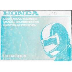 HONDA CBR 600 F de 2000 (manuel utilisateur 07/1999)