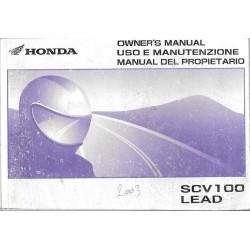 HONDA SCV 100 LEAD de 2003(Manuel utilisateur 04 / 2003)