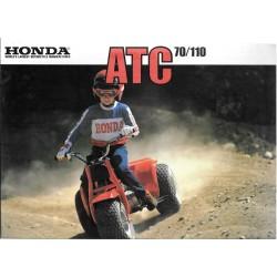 Prospectus original HONDA ATC 70 C / ATC 110 C