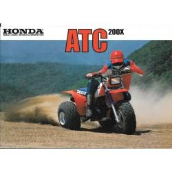 Prospectus original HONDA ATC 200 X