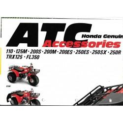 Prospectus original HONDA gamme ATC et accessoires