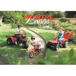 Prospectus original HONDA gamme loisirs