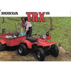 HONDA TRX 125 (Prospectus original de 1986)