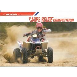 Cadre Rouge Compétition 1988 (Prospectus original)