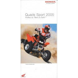 HONDA Quads Sport de 2005 (Catalogue original)