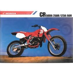 Catalogue original HONDA gamme CR de 1988