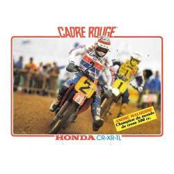 Catalogue original HONDA Cadre Rouge 1985