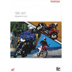 Catalogue publicitaire original HONDA 125 cc de 2004