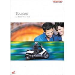 Catalogue publicitaire original Scooters HONDA de 2004