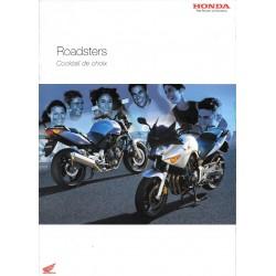 Catalogue publicitaire original Roadsters HONDA de 2004