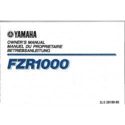 YAMAHA FZR 1000 Type 3LE (Manuel propriétaire novembre 1988)