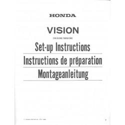 HONDA VISION NB 50 M / NE 50 M de 1985 (manuel montage)