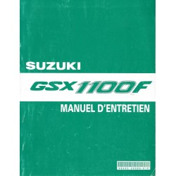 Manuel atelier SUZUKI GSX 1100 F (de 1989 à 1994)