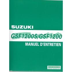 Manuel atelier SUZUKI GS 1200 / GSF 1200 S (de 2001 à 2005)