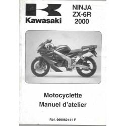 Manuel atelier KAWASAKI ZX-6R de 2000