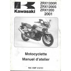 Manuel atelier KAWASAKI ZRX 1200 (S) (R) de 2001