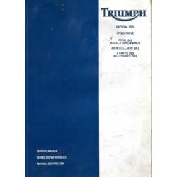 Manuel atelier TRIUMPH DAYTONA 955i à partir de 2002