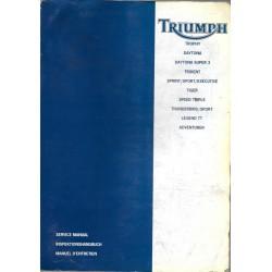 Manuel atelier Trophy, Daytona, Trident... avant 1999