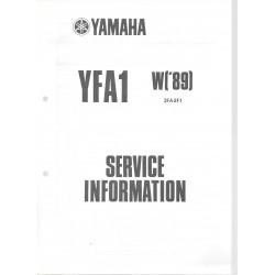 Manuel d'atelier Yamaha YFA 125 (W) de 1989 type 3FA
