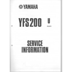 Manuel d'atelier Yamaha YFS 200 (U) 1988 et U-A de 88/90