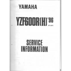 Manuel d'atelier Yamaha YZF 500 R (H) de 1996 type 4TV