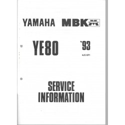 Manuel d'atelier Yamaha YE 80 type 4JC de 1993