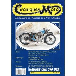 CHRONIQUES MOTO n° 11 MARS / AVRIL 1989