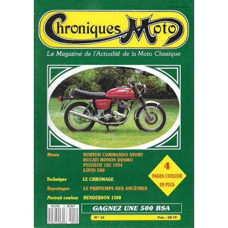 CHRONIQUES MOTO n° 12 MAI / JUIN 1989